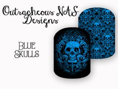Blue Skulls Custom Jamberry NAS Design