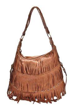 623a5919fb5b Carla Mancini Penelope Fringed Shoulder Bag Leather Shoulder Bag