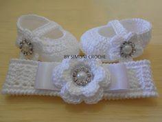 Simoni crochê: Conjunto de crochê para bebe