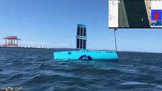 BLUEBOTTLE USV : Solar Powered Open Water Autonomous Sea Vessel Small Boats, Open Water, Willis Tower, Solar Panels, Solar Power, Sailing, Ocean, Products, Sun Panels