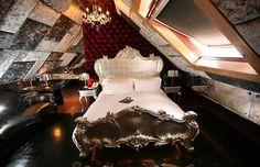 UK hotel, Crazy Bear provides flamboyant design and eclectic style. (www.crazybeargroup.co.uk)