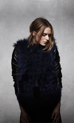 ashley B Convertible Fur & Leather Jacket
