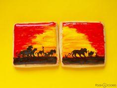 lion king cookies Polish Cookies, Paint Cookies, King Painting, Nail Polish Art, Hakuna Matata, Lion, Leo, Lions