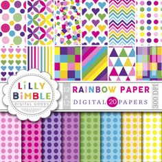 Lilly Bimble - Rainbow Digital Scrapbook Paper