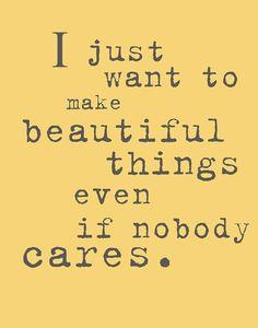 ... because I care