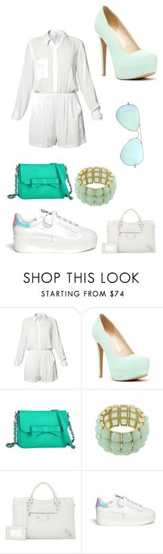 """Без названия #323"" by m-gorodetskaya ❤ liked on Polyvore featuring BCBGeneration, Qupid, Knights and Roses, AtStyle247, Balenciaga, Ash and Ray-Ban"