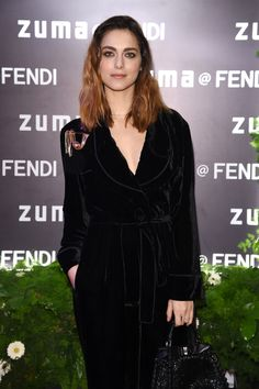 Miriam Leone at the Palazzo Fendi opening party in Rome.