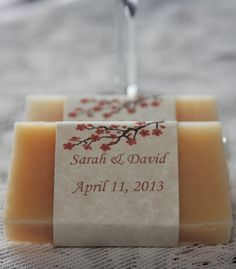 Spring Cherry Blossom Beer Soap Wedding Favors 100 by beersuds, $200.00
