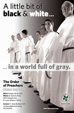 Vocational poster of dominican friars. Creative :)