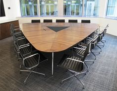 Omega veneered conference table.