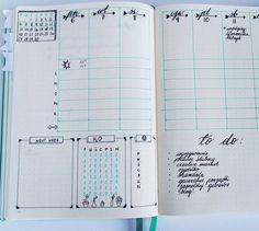 bullet journal vertical weekly spread with so much information!