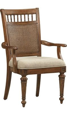 Dining/Kitchen Furniture, Pelican Bay Woven Cane Armchair, Dining/Kitchen Furniture   Havertys Furniture