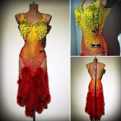 @_dennyb_97  #abrahammartinez #newdress #latin #latindress #dancer #dancers #cristals #swarovski #cristalfringes #citrine #orange…