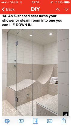 This is seriously my dream!  I love laying down in the shower!