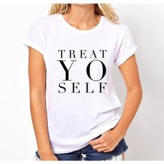 Treat Yo Self Cotton T-Shirt 5 Seconds of Summer Music Fans Fangirl... ($16) ❤ liked on Polyvore featuring tops, t-shirts, black, women's clothing, collar t shirt, long t shirts, tee-shirt, collared shirt and long shirt