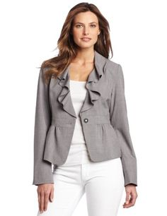 Rafaella Women`s Ruffle Front Melange Jacket $69.99