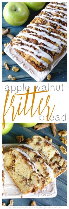 Easy Apple Walnut Fritter Bread Recipe