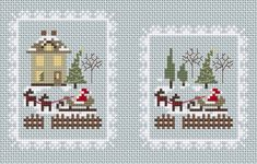 Santa Arrives • 1/3 Completed Designs - this will make nice 'flat fold' ornaments