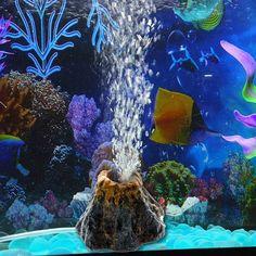 Vktech Aquarium Resin Volcano Shape and Air Bubble Stone Oxygen Pump Fish Tank Ornament Decor Fish Ornaments, Aquarium Ornaments, Aquarium Air Pump, Aquarium Fish Tank, Fish Tanks, Aquarium Led, Aquariums Réservoir, Puerto Rico, Stone Decoration