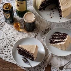 Guinness+Jameson+Baileys+Cake!Irish Car Bomb Cake. Bring on March!