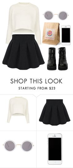 """""""Sem título #546"""" by chosselouis ❤ liked on Polyvore featuring Topshop, ASOS and The WhitePepper"""