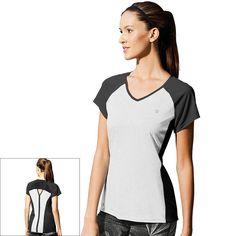 Women's Champion Marathon V-Neck Running Tee, Size: Medium, White