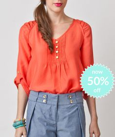 Michelle Blouse-Honeysuckle now 50%off!