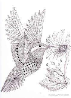 Tangled Hummingbird by Christianne Gerstner