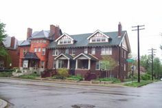 An extremely large two-family dwelling. Detroit Houses, Victorian Houses, Old Houses, Cabin, Homes, Mansions, Architecture, House Styles, Home Decor