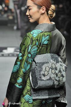 140319-7812 - Autumn/Winter 2014 Collection of Japanese fashion brand JOTARO SAITO on March 19, 2014, in Tokyo.