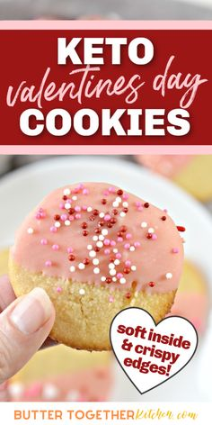 Butter Together Kitchen shares a delicious Valentine's Day dessert! These keto cookies are perfect for Valentine's Day! Try out these yummy treats! #valentinesday #treats #keto #ketocookies #ketodesserts #ketorecipe Sugar Free Treats, Sugar Free Cookies, Sugar Free Desserts, Keto Cookies, Sugar Cookies Recipe, Yummy Cookies, Yummy Treats, Baking Recipes, Cookie Recipes