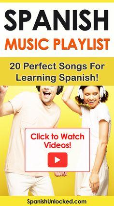 Spanish Music Playlist: 20 Perfect Songs for Learning Spanish Fast! Learn Spanish Free, Learn To Speak Spanish, Learn Spanish Online, Study Spanish, Spanish Music, Spanish Language Learning, Spanish Lessons, Teaching Spanish, Spanish Activities
