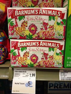 Lilly Pulitzer Barnum's Animal Crackers by Blazenhoff, designed for Nabisco to raise awareness of a children's charity, there was also a locative aspect to the campaign as sales were plotted on a map to show giving.
