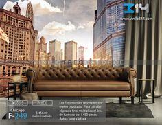 Fotomurales ciudad skyline Chicago (Tapiz) (mural) (fotomural) Decoración de muros y superficies lisas. Vinilo 314 Guadalajara Mexico. www.vinilo314.com