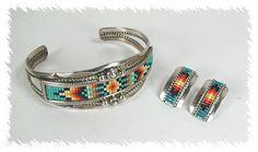 Navajo bead & sterling bracelet