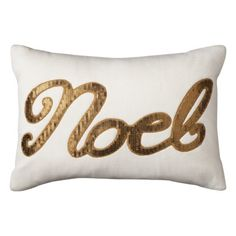"Threshold™ Noel Sequin Oblong Pillow - Gold (12x18"")"