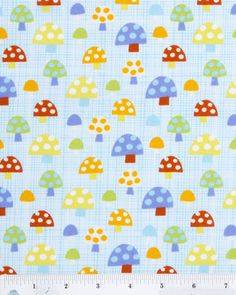 Nursery Fabric- Mushrooms Allover : nursery fabric : fabric :  Shop | Joann.com