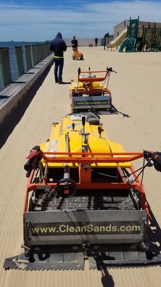 Heavy Duty Beach Cleaning Machines, Beach Cleaners having intensive sifting action, for beaches or any sand areas. Lawn Equipment, Cleaning Equipment, Beach Cleaner, Clean Beach, Everyday Objects, Sands, Farming, Sea Shells, Relax