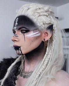 Elf Cosplay, Cosplay Makeup, Costume Makeup, Cosplay Wigs, Looks Halloween, Halloween Makeup, Makeup Inspo, Makeup Inspiration, Character Inspiration