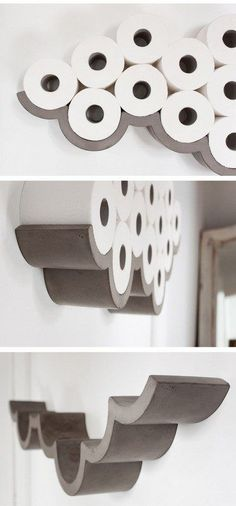 29 Space-saving bathroom storage ideas that look beautiful . - 29 Space-saving bathroom storage ideas that look beautiful : 29 Space-saving bathroom storage ideas that look beautiful . - 29 Space-saving bathroom storage ideas that look beautiful - Hang Towels In Bathroom, Diy Bathroom Decor, Bathroom Organization, Bathroom Interior, Interior Design Living Room, Organization Ideas, Master Bathroom, White Bathroom, Bathroom Storage Diy