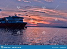 Photo about Enjoying the sunset near the port of Patras; By that time the ship was ready to sail to Italy. Image of italy, port, blue - 134329564