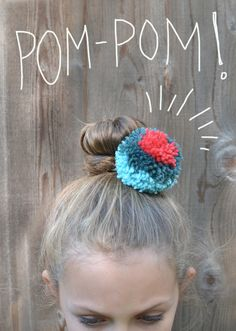 Even though these pom-pom hair ties are far from original (Pinterest has run amuck with them), I wanted to share my version because they are quite easy and