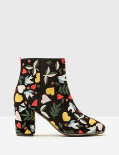 Let your feet do the talking with these statement-making boots. Intricate embroidery on soft suede creates a free-spirited, boho vibe when worn with smock dresses, while the low block heel adds some practicality. The handy zip makes getting ready in a rush a breeze.