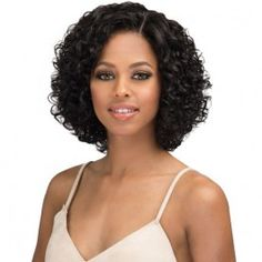 55 Beautiful and Convenient Medium Bob Hairstyles - Hairstyles Trends Curly Hair Cuts, Curly Hair Styles, Natural Hair Styles, Curly Wigs, 100 Human Hair, Human Hair Wigs, Longbob Hair, Medium Bob Hairstyles, Spiky Hairstyles