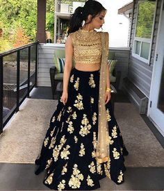 The Stylish And Elegant Lehenga Choli In Blue Colour Looks Stunning And Gorgeous With Trendy And Fashionable Embroidery . The Cotton Silk Fabric Party Wear Lehenga Choli Looks Extremely Attractive And. Indian Wedding Outfits, Indian Outfits, Indian Party Wear, Indian Wedding Hair, Indian Engagement Outfit, Punjabi Wedding, Indian Clothes, Indian Bridal Lehenga, Pakistani Lehenga