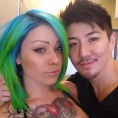 Neon hair by Guy Tang