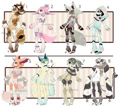 [CLOSED] ADOPT Auction 25 - No-Human set by Piffi-adoptables on deviantART