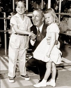 Walt with the very first guests at Disneyland!---lucky kids! i would've loved to have met one of my heroes.