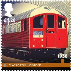 London Underground 150th stamps