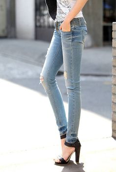 Skinny jeans, Puppys and Skinny on Pinterest